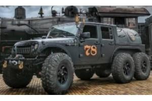 Шестиколісний Jeep Wrangler c паровим двигуном